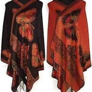 New reversible cashmere butterfly wrap